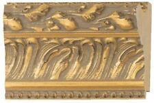 """4 1/2"""" Wood Picture Frame Scoop Molding 18 Ft Bundle Ornate Carve Gold Leaf"""