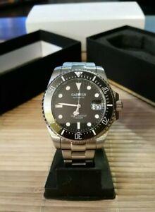 Neptune Series Seiko Automatik Uhr 44mm Taucheruhr Diver Submariner Militär Top