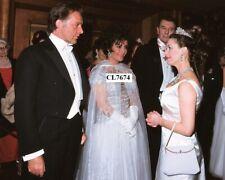 Elizabeth Taylor and Richard Burton Greet Princess Margaret Royal Film Performan