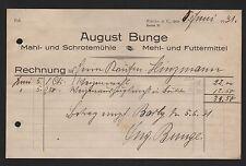Barby A. E., facture 1931, repas-et schrote-Moulin août Bunge