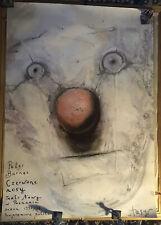 RED NOSES Polish 27x38 '92 artwork of clown's face Stasys Eidrigevicius