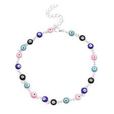 Enamel  Rainbow Evil Eye Charms Bracelet Muti Beads Lucky Amulet Turkish Jewelry