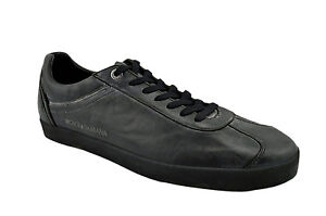 $425 DOLCE & GABBANA Black Leather HERITAGE Casual Men Sneakers D&G Shoes 43 / 9