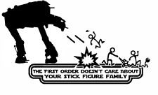 Decal Vinyl Car Sticker Star Wars First Order Doesn't Care Stick Figure Family
