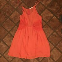 Altar'd State Small Sleeveless Orange Blouse With Floral Designs. Preowned