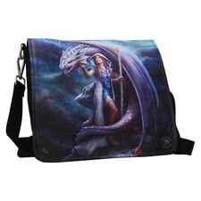 Anne Stokes Embossed Shoulder Bag featuring Dragon Mage design