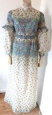 VINTAGE 1960s 60s 70s hippy boho handmade Maxi Abito Taglia 8