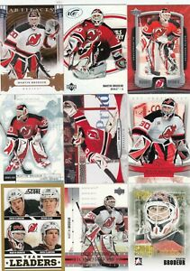MARTIN BRODEUR a lot of 9 DIFFERENTS CARDS INSERTS near mint   LOT 13        a