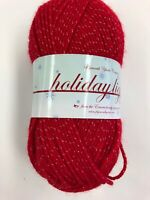 #8386 Red Plymouth Yarn Holiday Lights Worsted Weight  100G