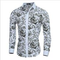 New Men's Shirts XS-XL Slim Fit Long Sleeve Dress Shirts Luxury T-Shirts Tops