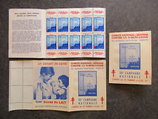 """France carnet timbres vignettes """"Tuberculose"""" 1963-1964 neuf ** TBE XY125"""