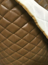 """Dune Ford Upholstery vinyl diamond Quilted fabric with 3/8"""" Foam Backing by yard"""