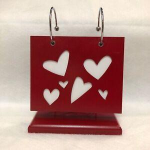 Valentine Hearts Photo Album Stand holds 80 photos