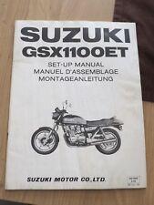 Original factory Set-up Manual Suzuki GSX1100ET  Dec 1979
