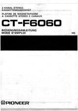 Bedienungsanleitung-Operating Instructions für Pioneer CT-F6060 in Deutsch