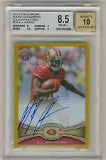 A.J. Jenkins 2012 Topps Chrome Rookie Autograph GOLD Refractor BGS 8.5 NM-MT+ /