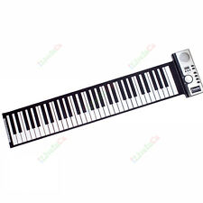 61 Keys Midi Electronic Roll Up Piano Silicone Keyboard W/ Power New