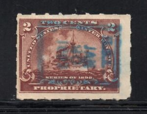 """Scott # RB27, Used, F, 2¢ Battleship, Hand-Stamped """"H. A. L."""" or """"H. & L."""""""