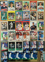Tom Glavine LOT of 36 Rookie RC insert base cards HOF NM+ 1988-99 Atlanta Braves