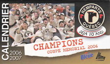 2006-07 QUEBEC REMPARTS HOCKEY POCKET SCHEDULE - FRENCH