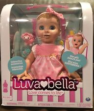 LuvaBella Luva Bella BLONDE Interactive Baby Girl Doll * HOT TOY *