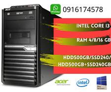 PC COMPUTER ACER M4610G TOWER - Intel Core i3-2120 16GB 240 SSD +500GB WIN 10PRO