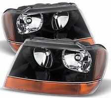FLEETWOOD DISCOVERY 2010 2011-2013 BLACK HEADLIGHTS HEAD LIGHTS LAMPS RV - SET