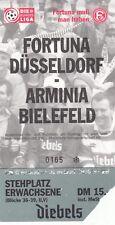 Ticket - Fortuna Dusseldorf v Arminia Bielefeld 1996/7