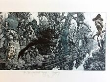 JULIAN JORDANOV ,Etching , Huge Free Style Print ,Ex Libris , Limited Ed. 3/10
