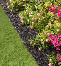 Permanent Mulch Recycled Rubber Border