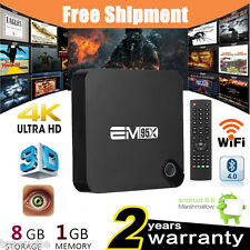 1+8GB Android6.0 QuadCore 3D 4K 1080P Smart TV BOX HDMI WIFI Media Player BT4.0