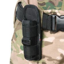 Belt Carry Pouch Flashlight Holster 360° Rotating Flashlight Holder Case Bag
