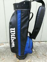 Vintage Wilson Golf Cart Bag ~ Black Blue ~ Made In USA ~ Ships in a box