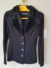 Charlie Brown Women Jersey Jacket with faux fur collar - size 8
