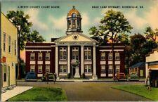 1940'S. COURT HOUSE. HINESVILLE, GA. POSTCARD. SZ4