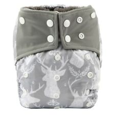 All In One Baby Cloth Diaper Nappy Charcoal Insert Night,Reusable Gusset Deer