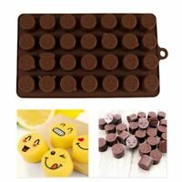 28 Emoji Silicone Chocolate Molds Cake Decorating Candy Cookies Ice Baking Mold