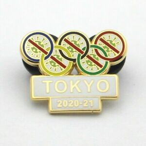 TOKYO 2020 JAPAN OLYMPIC GAMES PIN  let the vaccine work and games begin 2021 w