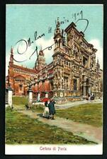 Pavia : La Certosa - cartolina datata 1909