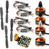 DIY RC Drone FPV Racer Quadcopter Parts Mini BLHeli OPTO 16A ESC Motor Props Kit