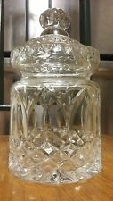 WATERFORD Crystal Cut GLASS Apothecary jar - Biscuit JAR - Caddie - Canister URN