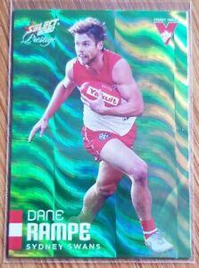 2020 AFL Select Footy Stars Prestige Green Foil Parallel Dane Rampe LOW #002/60
