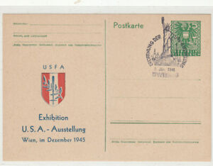 Austria 1946 USA Exhibition postcard with special cancel