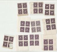 Lot of Postage Dues 1934-66  - Canada - MNH blocks etc. -  superfleas - cv$61