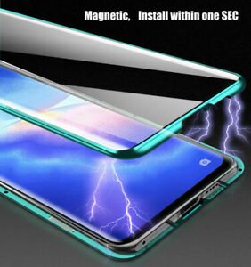 Metal Magnetic Phone Case Cover for OPPO A54 5G A74 5G A94 5G Find X3 Pro A16s