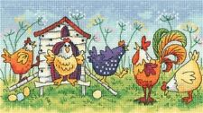 HERITAGE CRAFTS HAPPY HENS COUNTED CROSS STITCH KIT BIRDS OF A FEATHER NEW