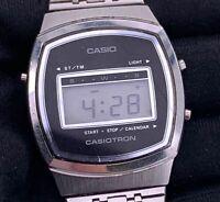 Casio Casiotron LCD 31CS-10 FUNCIONANDO digital vintage 32,7 mm Japan calendar