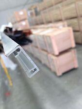 Aluminium fence Slats  - Concealed fixing cover - Mill finish