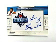2010 Playoff Prestige NFL Draft Class DEZ  BRYANT Auto  #11 Rookie COWBOYS RC
