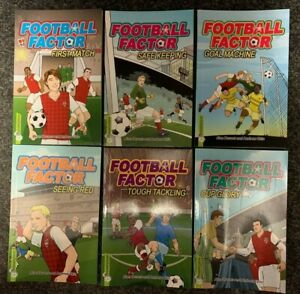 Pack of 6 Football Factor books by Alan Durant and Andrew Chiu New Free Postage